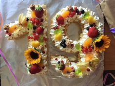 Zahlentorte (Numbers cake)   Küchenmomente 18th Birthday Cake, Number Cakes, Edible Arrangements, Food Art, Sushi, Waffles, Cake Decorating, Eat, Breakfast