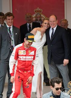 Princess Charlene and Prince Albert attends the Monaco Formula One Grand Prix