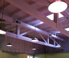 industrial bulbs exposed beams - Google Search