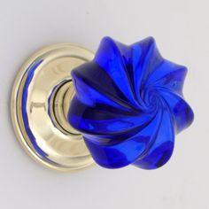 tiny light blue cut glass drawer /&cupboard pulls knobs