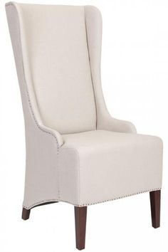 Phillips High-Back Chair - Accent Chairs - Living Room Furniture - Furniture | HomeDecorators.com NOTE this is only available in cream linen