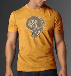 St. Louis Rams 47 Brand Track Gold Legacy Soft Scrum T-Shirt