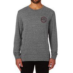 Brixton Long Sleeve T-shirts - Brixton Soto Long Sleeve T-shirt - Heather Grey