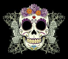 """Vintage Sugar Skull and Flowers"""" iPhone 6 case by Tammy Wetzel. Description from…"""