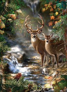 Peek Season hunting and wildlife series. 1000 pieces measures 19.25