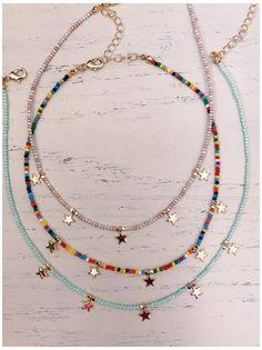 #beaded #chocker #ideas #vsco #beadedchockerideasvsco Bead Jewellery, Beaded Jewelry, Jewelery, Handmade Jewelry, Beaded Bracelets, Embroidery Bracelets, Beaded Anklets, Jewelry Findings, Cute Jewelry