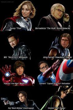 When tbbt meets Avengers!