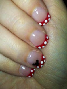 My Mickey nails for Disneyland!!!