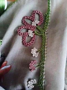 125 Grain Crochet Embroidered Writing Edges All in One Schöne weiße Knospe Big Flower Crochet Lace Crochet Edging Patterns, Border Pattern, Crochet Borders, Crochet Designs, Crochet Flowers, Crochet Lace, Hairstyle Trends, Cut The Ropes, Maquillaje Halloween