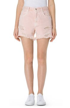 High wasted, destroyed denim are the new summer uniform. Plus, these are pink.