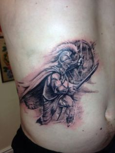 Tattoo done by Mark Pennell @ Serious Ink Shirehampton Bristol. #Achilles #tattoo #black