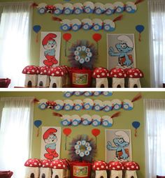 Smurf Birthday by Behar Party Designs