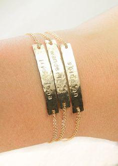 Alohilohi bracelet gold ID bracelet, gold bar bracelet, inspirational graduation gift, wanderlust, shine on, live aloha, kealohajewelry, maui, hawaii https://www.etsy.com/listing/191462073 http://instagram.com/kealohajewelry