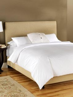 Upholstered Bed in Linen by Platinum Collection by SF Designs at Gilt