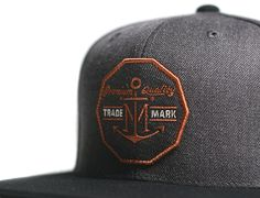 Barter Charcoal Black Snapback Cap by IMPERIAL MOTION
