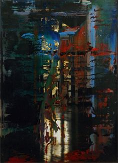 Untitled (10 Jan 1990)  Gerhard Richter , 1990  59.2 cm x 43.4 cm  Oil on photograph