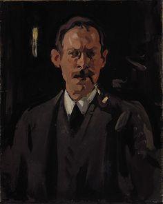 Samuel John Peploe, 1871 - 1935. Artist (Self-portrait), Samuel John Peploe