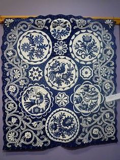 Blue Applique Quilt: