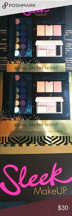 🆕🏷️IB Sleek Makeup Bring on the night collection Brand new in box has not been opened is the Sleek makeup bring on the night collection. This collection includes: *Eyeshadow palette Vintage Romance-with nine colors and a dual ended makeup brush.(9 g) *Highlighting palette Solstice(9 g) *Blush by 3 take a cheeky peek (20g)   **If you have any questions at all please feel free to comment below and ask. I promise that I will respond within a timely manner. Always remember to bundle and…
