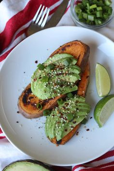 Paleo Avocado Toast--Whole 30 compliant. We added two eggs to ours for a protein but it would also be great with compliant sausage or bacon Avocado Toast, Avocado Breakfast, Paleo Breakfast, Breakfast Recipes, Breakfast Ideas, Brunch Recipes, Dinner Recipes, Avocado Dessert, Breakfast Casserole