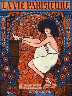 Illustration by Armand Vallee For La Vie Parisienne November 1921