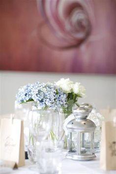 hydranges as table arrangements