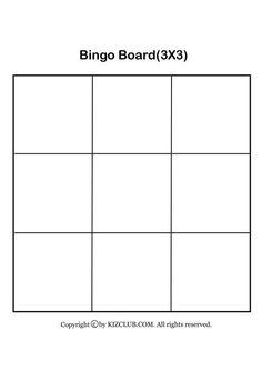 Bingo Template, Templates, Blank Bingo Board, Bingo For Kids, Feelings And Emotions, Bingo Cards, Drawing For Kids, Sunday School, Boards