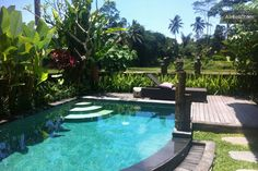 $90 pn $550 per wk House in Ubud, Indonesia. House is totally private. Swimming pool is not shared and is totally private.  Villa Uma is extremely Quiet and Peacful surrounded by Rice Fields. All the modern conveniences with a beautiful Bali feel!  Listening to the sounds of the Balinese cou...