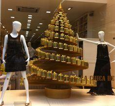 Decoração de Natal vitrine de shopping