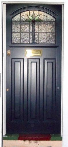 Arched 1930s front door