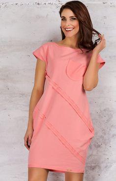 Infinite You M058 sukienka róż Niebanalna sukienka