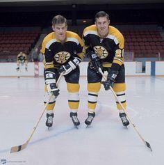 Bobby Orr & Don Awrey - Boston Bruins