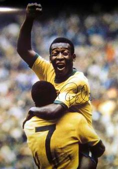 Pele, one of the greatest players in the history of football (soccer).