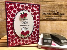 Card made using the Happiness Blooms Memories and More Card Pack from the Happiness Blooms Suite by Stampin' Up! Created by Joanne Mulligan, Independent Stampin' Up! Scrapbooking, Stampin Up Cards, Birthday Cards, Christmas Crafts, Card Making, Bloom, Lily, Memories, Create