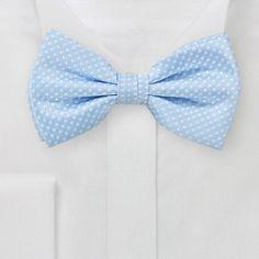 Sky Blue Polka Dot Bow Tie from Bows N' Ties