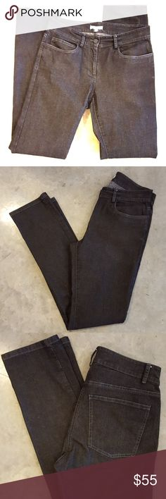 """Perfect stretch skinny """"vintage black"""" jeans Cotton stretch blend Skinny cut Slightly speckled double dyed black wash Never worn Eileen Fisher Jeans Skinny"""