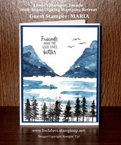A Beautiful Waterfront … Guest Stamper: Maria | Linda's Stampin' Escape
