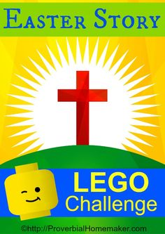 Do you have a Lego loving kid? Use that love of building to teach your child all about the ressurection with this Easter Story LEGO Challenge! Start an Easter tradition the whole family will love! activities for kids christian Easter Story Brick Challenge