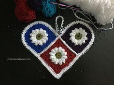 Flowery Heart (crochet)