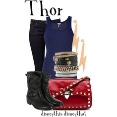 Thor, created by disneythis-disneythat on Polyvore. Cute boots.
