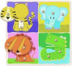 Encajable-puzzle animales selva