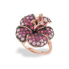 Levian Pink Sapphire Flower Ring