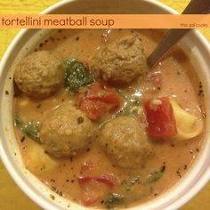 Tortellini Meatball Soup - This Gal Cooks #soup #pasta #turkey