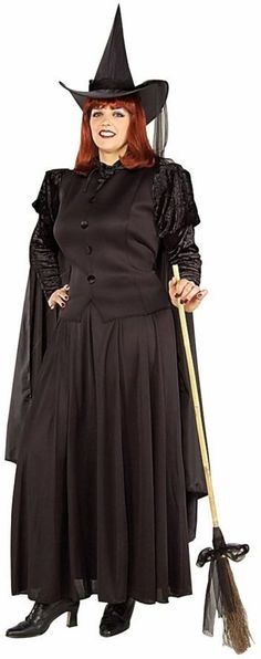 adult costume: classic witch