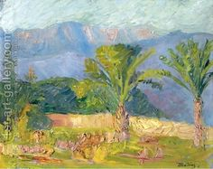 Moab Mountain Range, Lebanon Painting by Konstantinos Maleas Reproduction Most Famous Paintings, Oil Painting Reproductions, Mountain Range, Art Pictures, Art Gallery, Lebanon, Landscape Paintings, Art Images, Art Museum