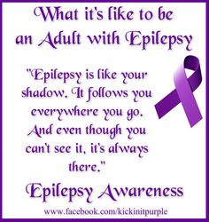 Please like and share. This is what it's like to be an Adult with Epilepsy ♥ #epilepsy #epilepsyawareness