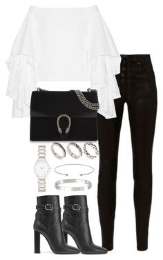 """Untitled #3397"" by theeuropeancloset on Polyvore featuring rag & bone, Rosie Assoulin, Emilio Pucci, Gucci, ASOS, Forever New and Cartier"