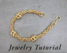 Side Knot Byzantine Bracelet Jewelry Tutorial