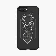 Geometric The Winter Deer PlayProof Case for iPhone 7 Plus – RhinoShield by Evolutive Labs