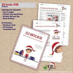 elf on the shelf ideas, elf on the shelf antics. make elf fun and easy with this diy printable kit!